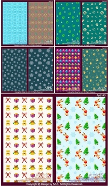 10 lovely christmas element vector base map case background