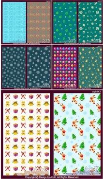 10 lovely christmas element vector base map case background