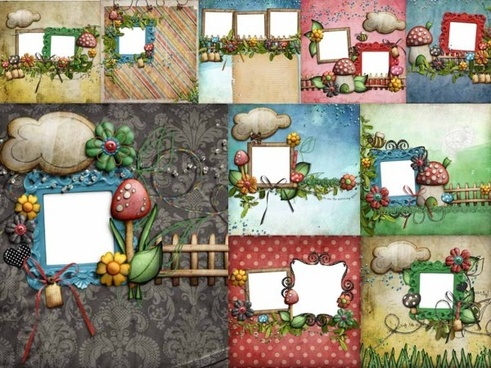 10 lovely mushroom collage style photo frame