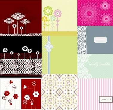 10 simple cute pattern vector