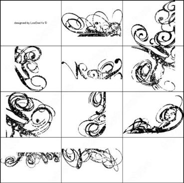 10 spotted swirls brush