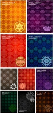 10 tile background pattern vector