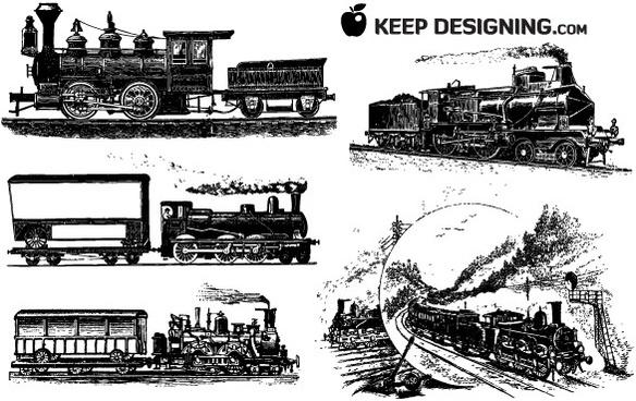 10 Train Vector Graphics