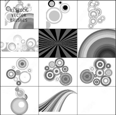 10 vector circle brush