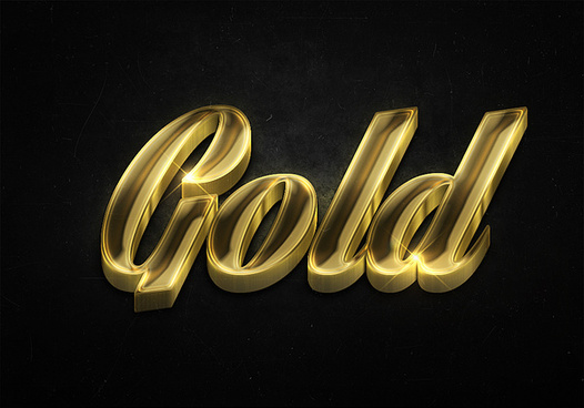 11 3d shiny gold text effects preview