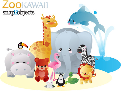 12 free vector zoo animals