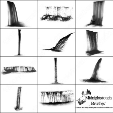 12 photoshop 7 waterfall brush