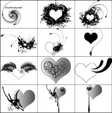 12 valentines brush