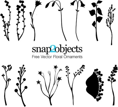 13 Free Vector Foliage Ornaments Pack 01