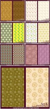 14 cute little pattern background vector base map case