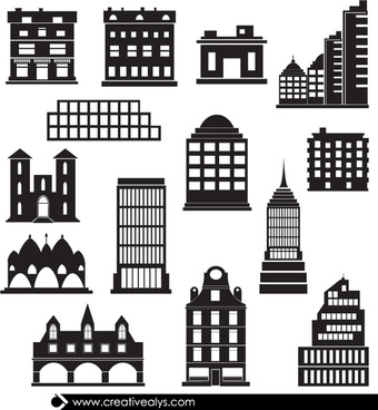 14 vector buildings