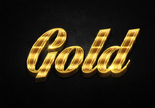 15 3d shiny gold text effects preview