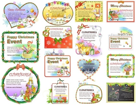 15 lovely christmas decorations vector