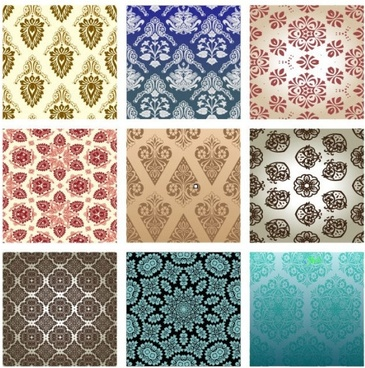 15 retro pattern wallpaper 01 vector