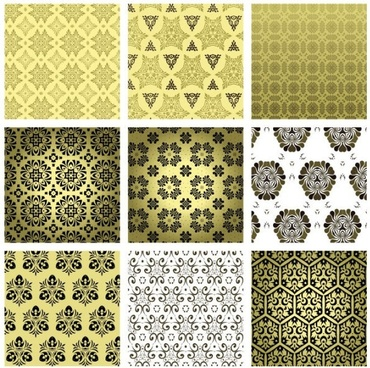 15 retro pattern wallpaper 02 vector