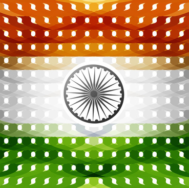 15th of august indian flag texture wave design with colorful vector