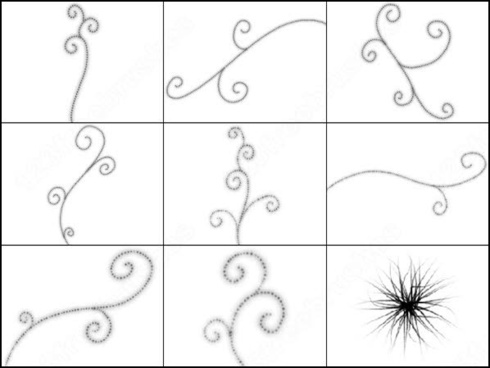 17 swirls and sparkles brush