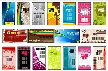various colorful banners collection modern abstract style
