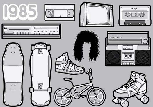 1985 � A Free Vector Pack of 80s Icons