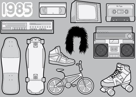 1985 vector nostalgia