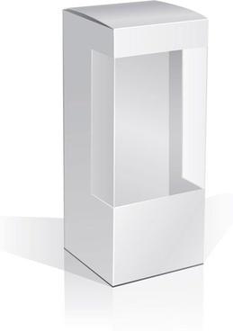 1 box blank vector