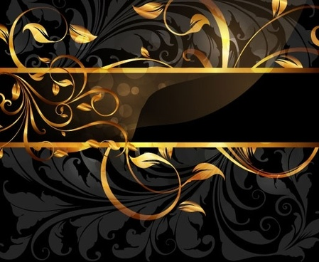 1 gold pattern vector