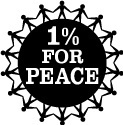 1 percent for peace logo