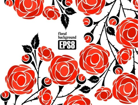 1 roses vector
