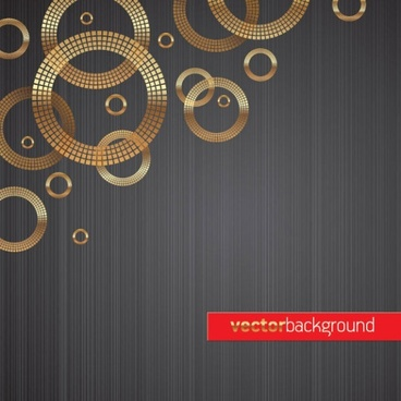 1 round gold background vector