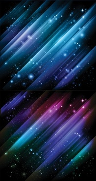 1 star universe background vector