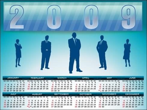 2009 Calendar template