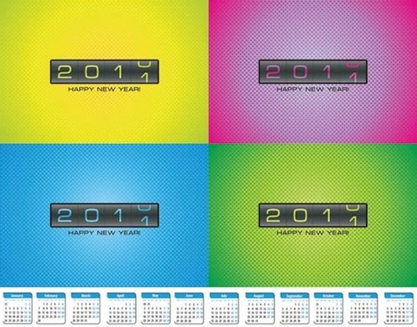2011 calendar templates digits clock motion design
