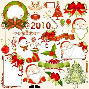 2010 christmas element vector