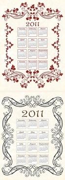 2011 calendar template 05 vector