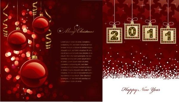 2011 christmas element vector