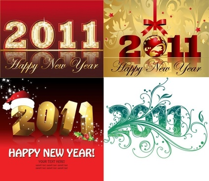 2011 christmas font design vector