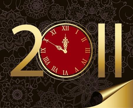 2011 clock pattern vector