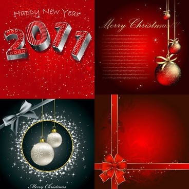 new year xmas card templates elegant twinkling decor