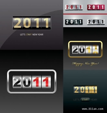 2011 calendar design elements modern score board sketch