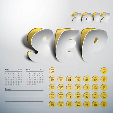 2012 art calendar creative calendar vector