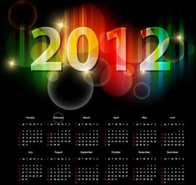 2012 calendar 05 vector