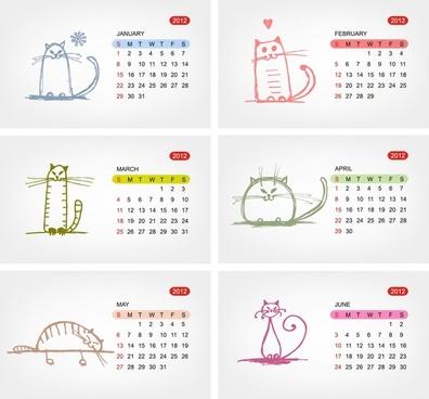 2012 calendar calendar template vector