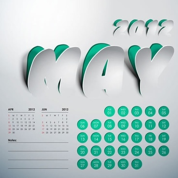 2012 calendar vector artistic creativity