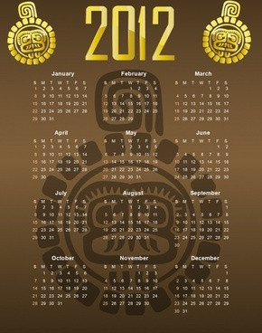 2012 calendar vector illustration