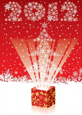 2012 cartoon christmas background vector illustration