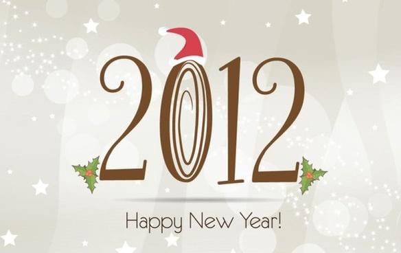 2012 christmas font 01 vector