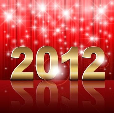 2012 creative fonts vector