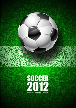 2012 world cup soccer poster bright vector