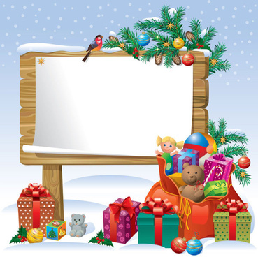 2013 christmas background with gift box design vector