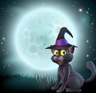 Cartoon Halloween Wallpaper Background Free Vector Download